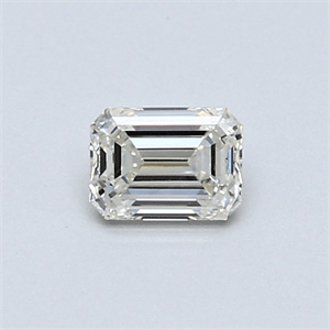 Picture of 0.41 Carats, Emerald Diamond with  Cut, H Color, VVS2 Clarity and Certified by EGL