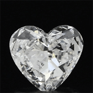Picture of 0.72 Carats, Heart Diamond with  Cut, F Color, SI1 Clarity and Certified by GIA