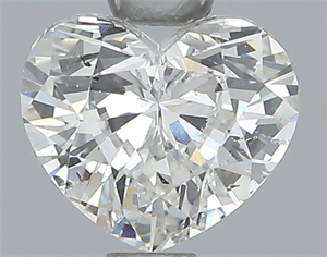 Picture of 0.70 Carats, Heart Diamond with  Cut, F Color, SI1 Clarity and Certified by EGL