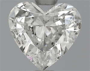 Picture of 0.71 Carats, Heart Diamond with  Cut, F Color, SI1 Clarity and Certified by EGL