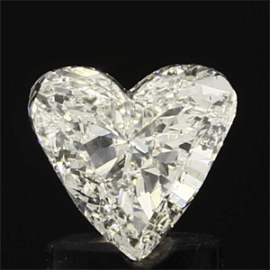 Picture of 0.97 Carats, Heart Diamond with  Cut, H Color, SI2 Clarity and Certified by EGL