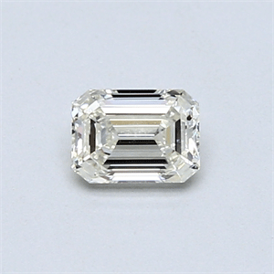 Picture of 0.40 Carats, Emerald Diamond with  Cut, H Color, VVS2 Clarity and Certified by EGL