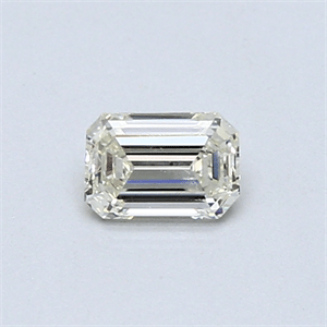 Picture of 0.37 Carats, Emerald Diamond with  Cut, H Color, VVS2 Clarity and Certified by EGL