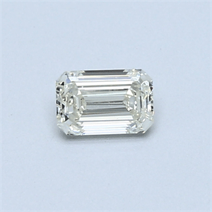 Picture of 0.31 Carats, Emerald Diamond with  Cut, H Color, VS1 Clarity and Certified by EGL