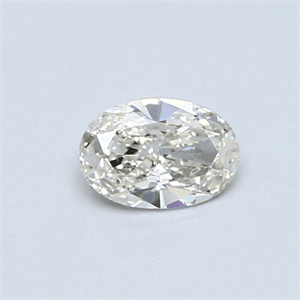 Picture of 0.32 Carats, Oval Diamond with  Cut, K Color, SI1 Clarity and Certified by GIA