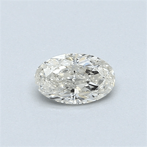 Picture of 0.34 Carats, Oval Diamond with  Cut, G Color, SI1 Clarity and Certified by EGL