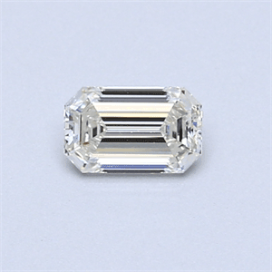 Picture of 0.35 Carats, Emerald Diamond with  Cut, G Color, VVS1 Clarity and Certified by EGL
