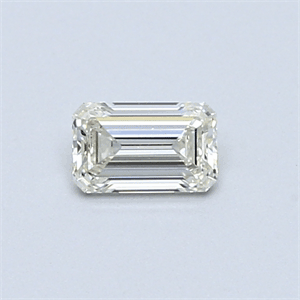 Picture of 0.31 Carats, Emerald Diamond with  Cut, H Color, VVS1 Clarity and Certified by EGL