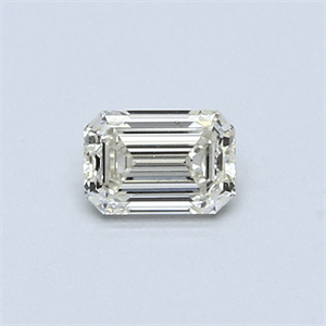 Picture of 0.35 Carats, Emerald Diamond with  Cut, H Color, VVS1 Clarity and Certified by EGL