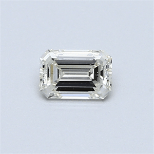 Picture of 0.32 Carats, Emerald Diamond with  Cut, H Color, VVS2 Clarity and Certified by EGL