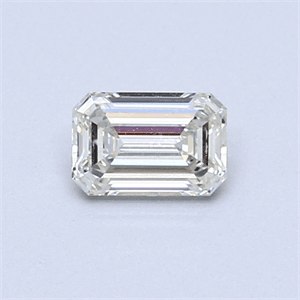 Picture of 0.42 Carats, Emerald Diamond with  Cut, H Color, VVS1 Clarity and Certified by EGL