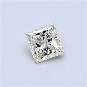 Picture of 0.34 Carats, Princess Diamond with  Cut, I Color, VVS1 Clarity and Certified by EGL