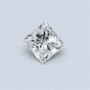 Picture of 0.30 Carats, Princess Diamond with  Cut, D Color, SI2 Clarity and Certified by EGL