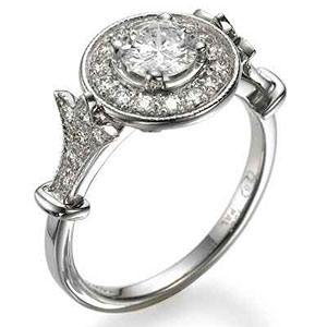 Pave set halo ring