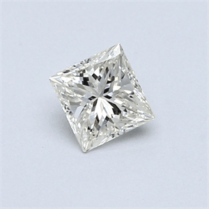 Picture of 0.39 Carats, Princess Diamond with  Cut, H Color, VS1 Clarity and Certified by EGL