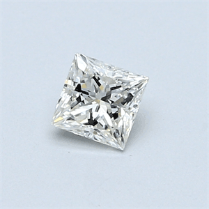 Picture of 0.38 Carats, Princess Diamond with  Cut, H Color, VVS2 Clarity and Certified by EGL