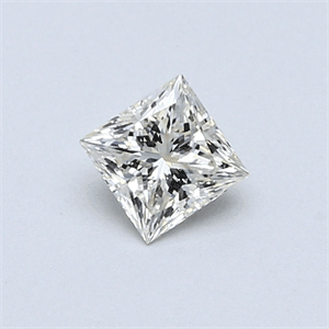 Picture of 0.40 Carats, Princess Diamond with  Cut, H Color, VVS2 Clarity and Certified by EGL