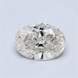 Picture of 0.70 Carats, Oval Diamond with  Cut, G Color, SI3 Clarity and Certified by EGL
