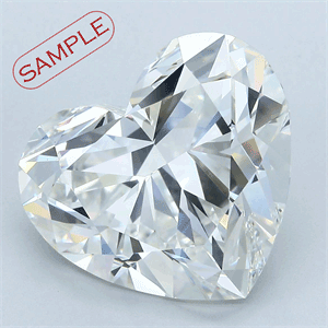 Picture of 0.51 Carats, Heart Diamond with  Cut, E Color, IF Clarity and Certified by GIA
