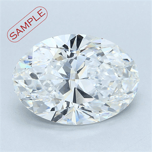 Picture of 0.33 Carats, Oval Diamond with  Cut, F Color, VVS2 Clarity and Certified by GIA