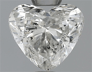 Picture of 1.00 Carats, Heart Diamond with  Cut, H Color, I1 Clarity and Certified by GIA